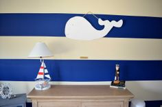 """Love these bold stripes in the nursery - they give this room a bright, """"springy"""" feel! #BritaxStyle"""