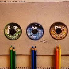 Resultado de imagem para desenhos realistas de olhos coloridos