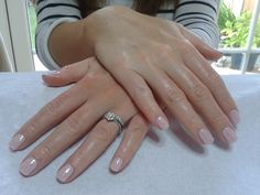A dry manicure complete with CND Shellac 'Cake Pop' & 'White Sparkly Irridesent' glitter.