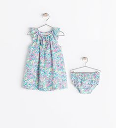 Image 2 of FLOWER PRINT DRESS WITH PANTIES from Zara