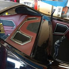 Car Audio 411 70 chevelle custom interior red black grey, rear deck trunk, and door panels. grilles #BecauseSS
