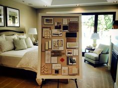 Concept board of the master bedroom created by Garrison Hullinger Interior Design #AmericanDreamSOD #MadeInAmerica