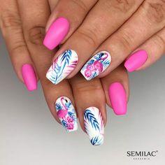 cute nails for kids ; nails for kids cute short ; cute acrylic nails for kids ; cute unicorn nails for kids Summer Acrylic Nails, Best Acrylic Nails, Summer Nails, Stylish Nails, Trendy Nails, Hawaiian Nails, Flamingo Nails, Vacation Nails, Latest Nail Art