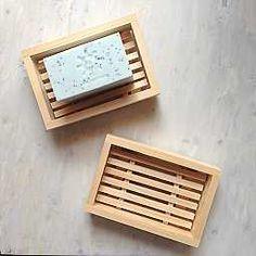 Cypress wooden soap dish   Zero waste bathroom   Plastic-free bar soap