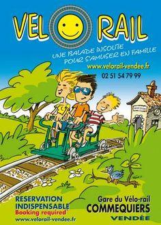 Le Vélo-rail de Commequiers. Du 20 octobre au 10 novembre 2013 à Commequiers.