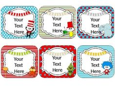 Dr. Seuss Theme Name Cards {EDITABLE} Organize your classroom in a fun and creative way with these name cards!