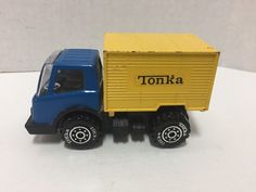 Tonka Container Truck Blue Yellow Small Japan Vintage Toy #Tonka