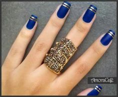 French Nails Art are popular, stylish and worthy. They have the elegant and beautiful look. You can give your nails a very beautiful gift without spending a lot of bucks … Read French Tip Nail Designs, French Tip Nails, Nail Art Designs, Gorgeous Nails, Pretty Nails, Stylish Nails, Blue Nails, Striped Nails, Matte Nails