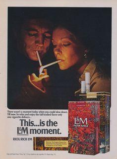 1972 L&M Cigarette Ad 70s Couple Romantic Moment by AdVintageCom