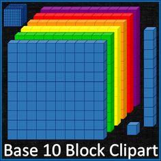 Base 10 Blocks #Clipart #math