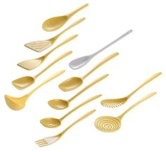Set of 12 Cook  Serve Melamine Utensils butter yellow >>> Check out this great product.-It is an affiliate link to Amazon. #KitchenUtensils