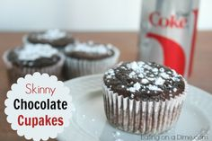 This skinny chocolate cupcakes recipe is delicious! It only has 80 calories each, but you won't even notice. They are so moist, you don't even need icing.