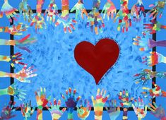 Class project?  Students paint a full sheet of paper, then when it's dry they trace and cut out their hand.  The positive shape is put into the class collage, the negative shape can be kept.  Color theory, positive and negative shapes, collaboration...