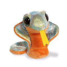 "Aurora World 29247 ""charmer Cobra"" Soft Toy YooHoo. Ty Stuffed Animals, Plush Animals, Dinosaur Stuffed Animal, Safari Animals, Madrid Barcelona, Ty Beanie Boos Collection, Ty Peluche, Funko Pop, Star Wars Shop"