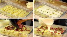Cartofi gratinați cu șuncă și mozzarella - rețeta video • Bucatar Maniac • Blog culinar cu retete Mozzarella, Dairy, Cheese, Blog, Blogging