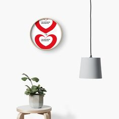'Valentine day heart gifts' Clock by CthroughMYeyes Valentines Day Hearts, Clock, Printed, Awesome, People, Gifts, Home Decor, Products, Watch