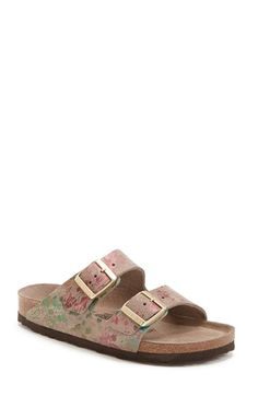 Birkenstock 'Arizona' Soft Footbed Printed Leather Sandal (Women) | Nordstrom