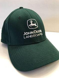 John Deere Landscapes Promo Green White Cap Trucker Fitted Small Medium Hat  #JohnDeere #BaseballCap