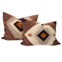 Large Navajo Weaving Bolster Pillows