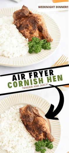 Air Fryer Cornish Hen (Tender & Juicy!) | Domestic Dee
