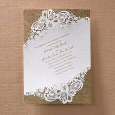 Rustic Burlap and Lace Invitation - Wedding Invitation Ideas - View a Proof Online - Order a Sample