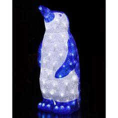 Novolink 22 in. 100 White LED Decorative Blue - The Home Depot Christmas Light Show, Christmas Lights, White Lead, Xmas Decorations, Beautiful Christmas, Home Accents, Lava Lamp, Penguins, Led