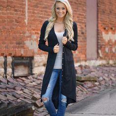 Long Style Women Cardigan