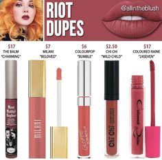 Like crime riot liquid lipstick dupes // @kathrynglee123
