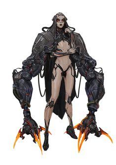 Cyberpunk Kunst, Cyberpunk Rpg, Cyberpunk Character, Cyberpunk Girl, Robots Characters, Fantasy Characters, Female Characters, Arte Robot, Robot Art
