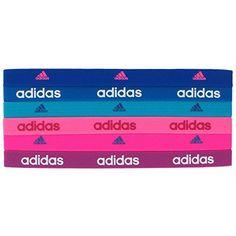 dbace287c0387 adidas Women s Sidespin Hairband Bold Blue Blue Aqua Clear Pink Solar  Pink Magenta