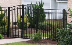 arch metal gate fence