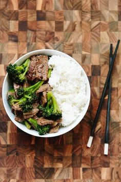 """This is take-out menu beef and broccoli stir-fry — but so much better. No sad broccoli. No chewy, dry pieces of beef. No gloppy sauce. Replace all those with crisp-tender broccoli and savory bites of beef tossed with a simple three-ingredient stir-fry sauce. Chinese """"take-out"""" night will never be the same."""