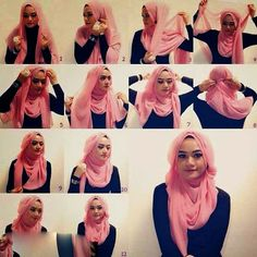 Want to know how to make hijab in different style at home. Then, here are the 9 best hijab styles step by step to make your own. Hijab Chic, Stylish Hijab, Modern Hijab, Hijab Simple, Simple Hijab Tutorial, Hijab Style Tutorial, Islamic Fashion, Muslim Fashion, Hijab Fashion