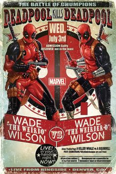 Deadpool - Wade Vs Wade - Official Poster. Official Merchandise. Size: 61cm x 91.5cm. FREE SHIPPING