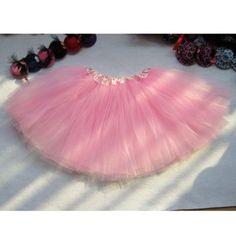 HuntGold 1X heiße Mädchen Kinder Partei Ballett Kleid Fest Organdy Platter Rock Tanz Kleid Tanzkleidung (pink)