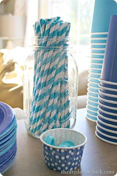 Love these straws and having a boy is the perfect excuse to buy them in my favorite color