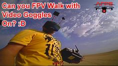 FPV Walking in Desert with Video Goggles on