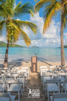 Exchanging vows at one of the top ten beaches in the world is a beautiful way to start life with your soulmate. Click the pin to get info on how to plan your destination wedding in the U.S. Virgin Islands, no passport required for U.S. citizens. #RealNice