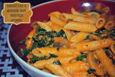 An Opera Singer in the Kitchen: Garlicky Kale and Mushroom Pasta with Fresh Tesoro Marinara Sauce