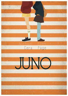 Juno (2007) ~ Minimal Movie Poster by Maria Suarez Inclan #amusementphile