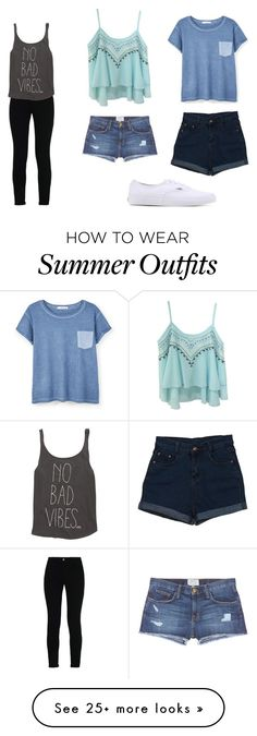 Classic Summer Outfits For 2016 by poolta83 on Polyvore featuring STELLA McCARTNEY, Billabong, Current/Elliott, MANGO and Vans