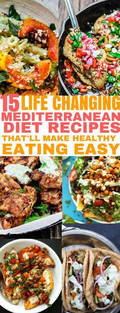 15 Life Changing Mediterranean Diet Recipes for Healthy Eating 15 delicious Mediterranean Diet recipes that'll make healthy eating easy! The post 15 Life Changing Mediterranean Diet Recipes for Healthy Eating appeared first on Gesundheit. Menu Dieta Paleo, Easy Mediterranean Diet Recipes, Mediterranean Food, Med Diet, Meditranian Diet, Diet Coke, Diet Meal Plans, Paleo Diet Plan, Best Diets