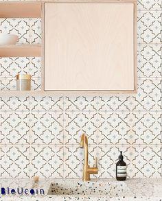 Encaustique marocain carreau mur escalier étage auto-adhésif vinyle autocollants, cuisine salle de bain dosseret carrelage autocollant