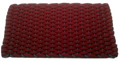 #355 Rose with Light Blue insert Rockport Rope Doormats 100% made in USA Hand woven