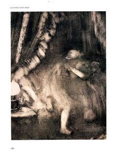 Degas 'Getting Into Bed  c1885′. [Monotype 38x28cm]