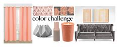 """""""gray and peach home"""" by krystalina123 ❤ liked on Polyvore featuring interior, interiors, interior design, home, home decor, interior decorating, Allem Studio, Present Time, Menu and colorchallenge"""