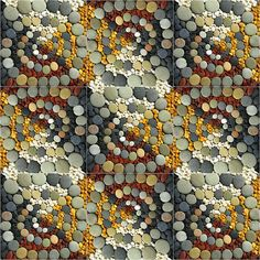 pebble mosaic looks like a quilt