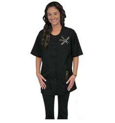 Shine Design Rhinestone Trim Style Jacket Black #9215 SM, MED, L, 1X : $28.95 2X : $31.95 Visit www.BarberSalon.com One stop shopping for Professional Barber Supply, Salon Supply, Hair & Wigs, Professional Product. GUARANTEE LOW PRICES!!! #barbersupply #barbersupplies #salonsupply #salonsupplies #beautysupply #beautysupplies #deal #promotion #stylingcape #shampoocape #apron #stylejacket #barberjacket #bettydain #shinedesign