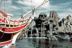 "Skull Rock and Captain's Hook Pirate ship. Daily Vintage Disneyland photo. Bill Cotter collection http://www.worldsfairphotos.com/themeparks/disney.htm www.mickeyphotos.com Apple iBooks ""A Photographers Dream"" https://itun.es/us/itjT3.l , Flickr/Twitter/Instagram/Tumblr/Pinterest/Flipboard: msdlpierce7530 Twitter: https://twitter.com/msdlpierce7530 Google+: https://www.google.com/+MickeyphotosDisneyphotos Tumblr: http://msdlpierce7530.tumblr.com/"