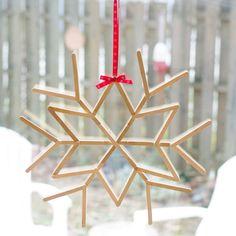 Make a Cool Craft Stick Snowflake